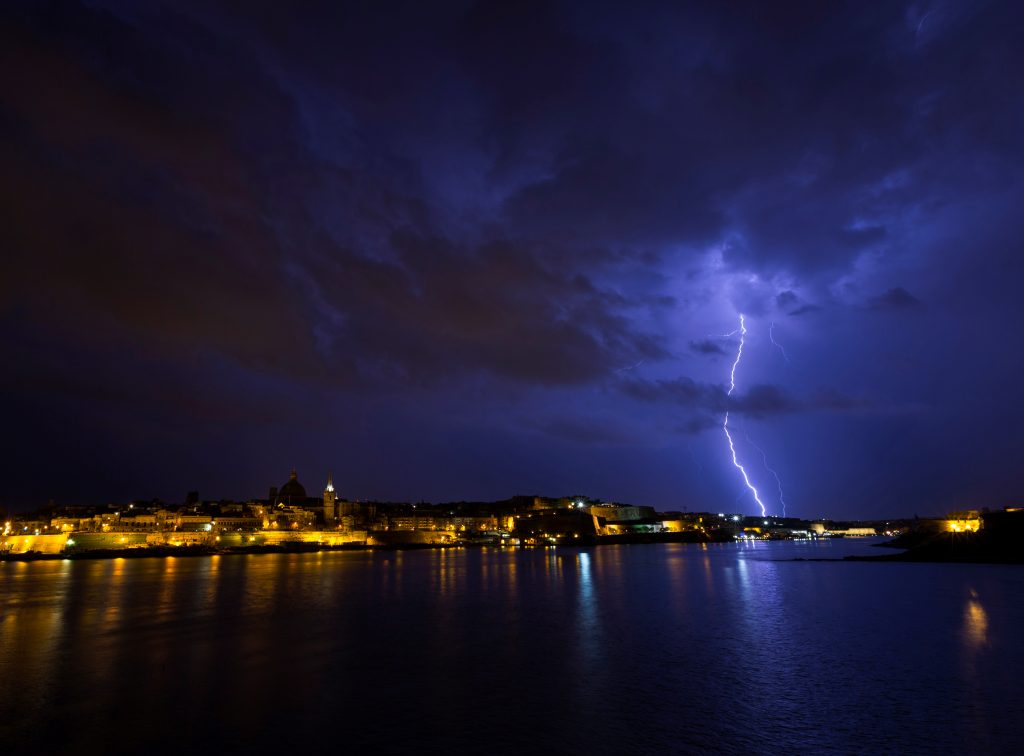 Gewitter über Malta